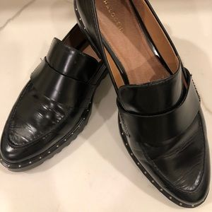 HALOGEN BLACK LOAFERS